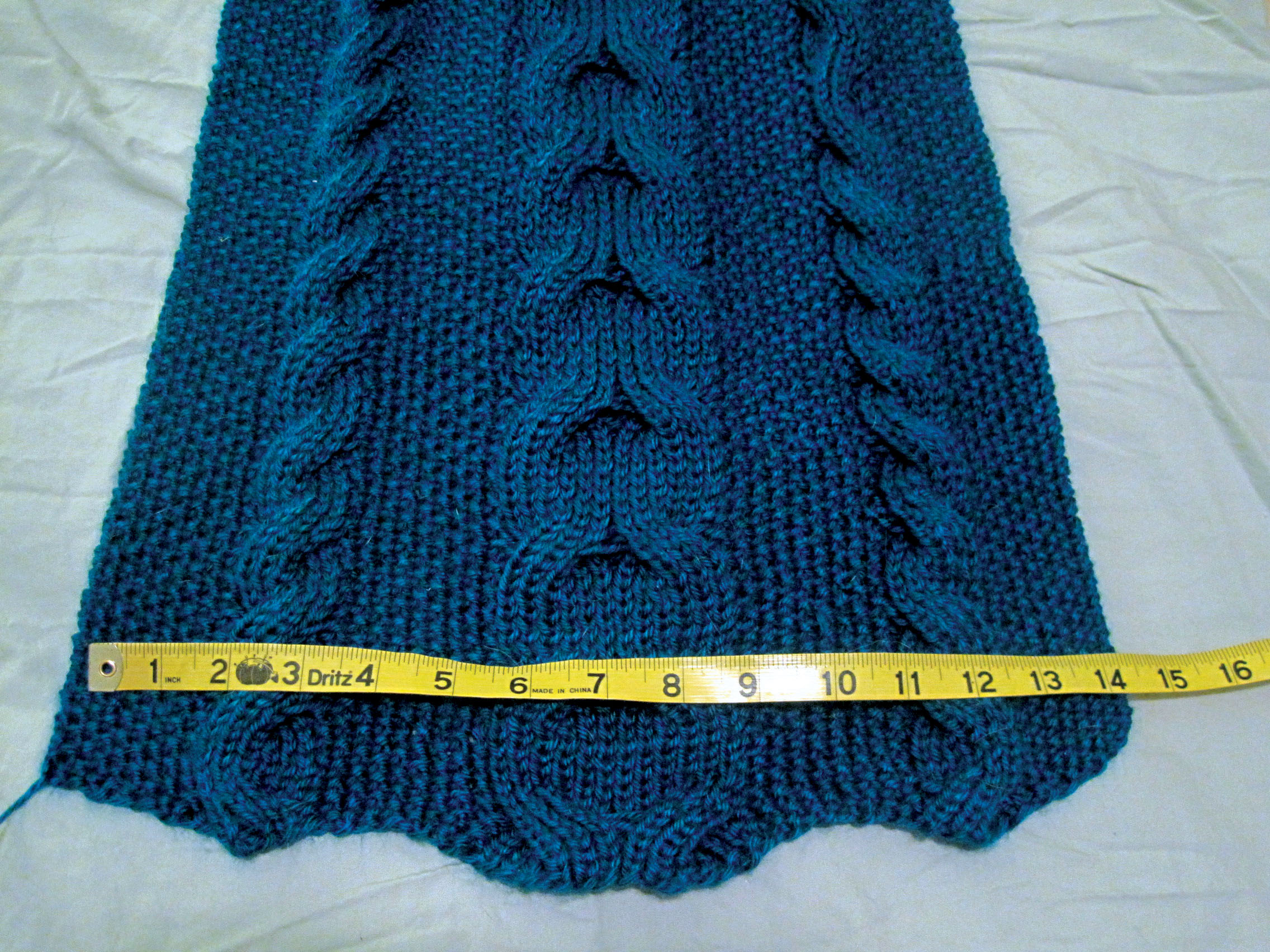 Reversible cable scarf from Vogue Knitting - The StitcheratiThe ...