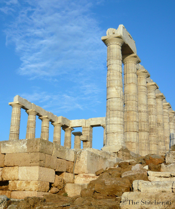 Temple of Poseidon ruins in Sounion