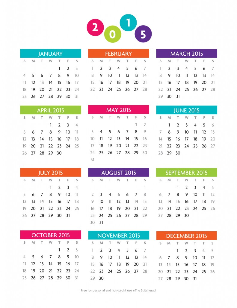 Printable 2015 12 month office calendar the for Ms office calendar template 2015